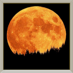 Moon Framed