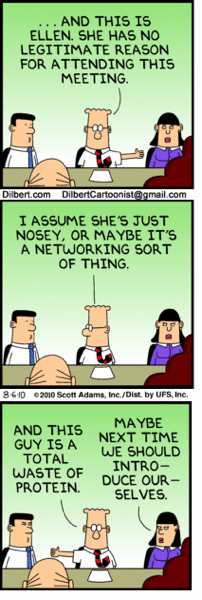 Dilbert  wasted meeting