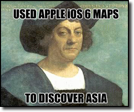 Columbus apple maps