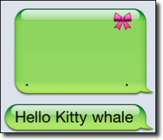 Hello kitty whale