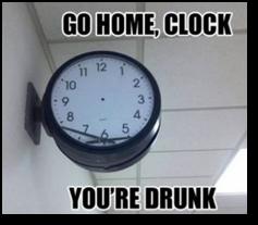 Drunk clock