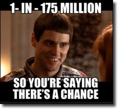 1 in 175 million