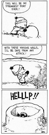 Calvin and walls