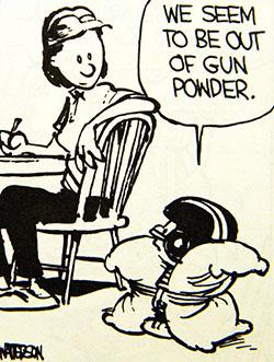 Calvin  gun powder