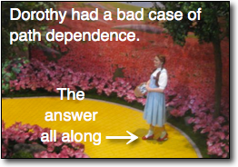 Dorothy path dependence